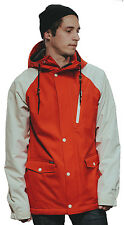 Holden Varsity Snowboard Jacket Fiery Red/Bone Mens