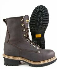 Carolina Brown Leather Steel Toe Slip Resistant Logger Work Boot - CA1821