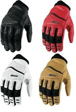 Icon Super Duty 2 Gloves Street Motorcycle Riding Gear Black White Tan Red New