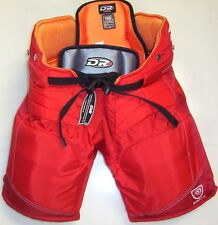 "New DR HPX6 X6 size junior jr. large ice hockey goal goalie pants red 28"" - 30"""