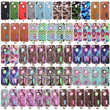 New Phone Cases Hybird Silicone PC Patterned Back Covers Skins For iPhone 5 5s S