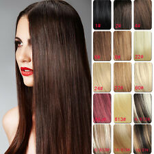"30"" 7pcs 120g Full Head Clip in 100% Remy Human Hair Extensions 11 Colors"