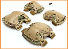 6 Colors Airsoft Military Tactical Combat X-type Knee & Elbow Protector Pads Set