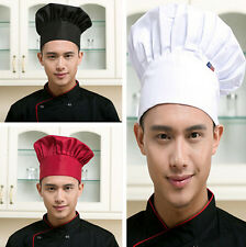 Cook Hat Elastic Chef Adjustable Cap Hot Men Kitchen Catering Baker