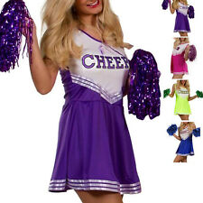 Cheerleader Sports Uniform School Women's Fancy Dress Costume Outfit without Pom