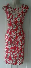 LAURA ASHLEY OCCASION size 10 pink -red vintage style formal dress tea wedding