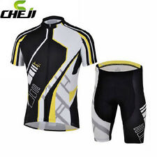 CHEJI Cycling Jersey Short Sleeve ( bib )Shorts Quick Dry pad Cycling Clothing