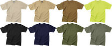 Solid Color Short Sleeve Cotton T-Shirt Polyester & Cotton