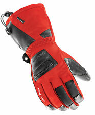Joe Rocket Red/Black Mens Latitude Leather/Textile Gauntlet Motorcycle Gloves