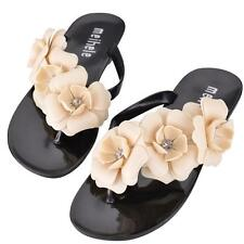 Flower Flat Slippers Sandal Summer Jelly Comfortable Beach Shoes Plus Size