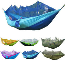 Outdoor Camping Anti-mosquito Parachute Cloth Hammock Hanging Chair Ultralight