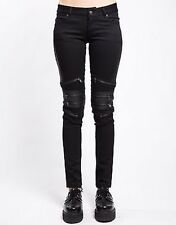 Tripp Nyc Womens Gothic Rave Zip Skater Emo Punk Rockabilly Biker Pants Is4177