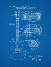McCarty Stringed Musical Instrument Patent Print Blueprint