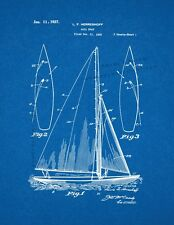 Sailboat Patent Print Blueprint