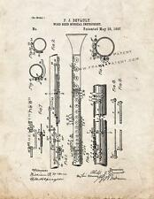 Clarinet Patent Print Old Look