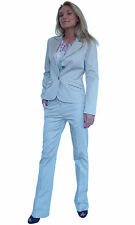 New Grey 2 Piece Trousers Blazer Office Work Business Suit Costume 8 10 12 14 16