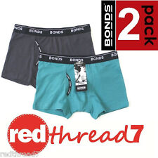 BONDS Boys 2 Pack Guyfront Trunks Boxers Boyleg Shorts Underwear Cotton Twin Pk