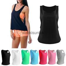 Woman Fitness Training Workout T Shirt Womens Sleeveless Sports Tank Top Vest