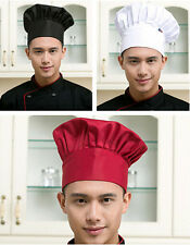 Hot Kitchen Men Catering Cook Chef Cap Hat Baker Adjustable Elastic