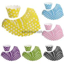 20pcs Adorable Bright Colors Polka Dot Cupcake Wrapper Baking Muffin Cake Cases