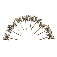 Pack of 10 Vintage Hair Bobby Pins Retro Grips Slides Hair Accessories Butterfly