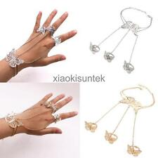 Bracelet Ring Chain Women Hand Chain Silver Gold Butterfly Metal Fashion Slave