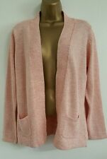 NEW House Of Fraser Pure Cotton Size 14 Cardigan Coral Pink Day Knit Wear