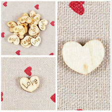 New Wooden Love Heart /Just Married Heart Pieces Craft Card Making For Wedding