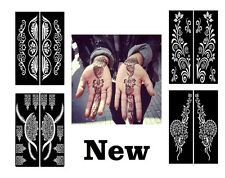 2016 Mixed Designs Henna Temporary Tattoo Stencils Stickers Mehndi Template Eid