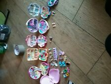 6 Polly Pocket with figures and rings cars and more