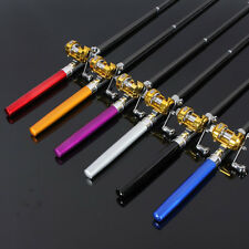 Portable Pocket Pen Shape Aluminum Alloy Fishing Rod Pole Reel Combos