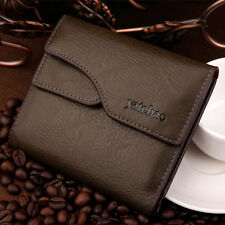 Men's Faux Leather Clutch Wallet Pockets ID credit Card Holder Bifold Coin Purse