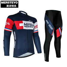 MERSTEYO Pro Bike Team Racing Cycling Jersey Ropa Ciclismo Long Sleeve Bicycle