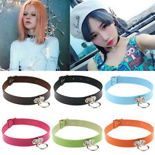 Pop Choker Collar Classic Necklace Leather Chain Punk Neck Ring Gothic Pendant