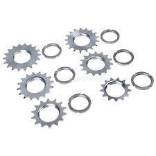 Fixie Track Sprocket Fixed Gear Single Speed Cog Threaded Lock Ring 13T~18T