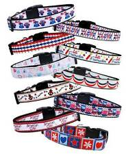 PATRIOTIC Dog Collar or Leash * 16 Designs * Puppy 4th of July American Themed