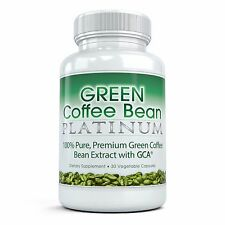 BEST Green Coffee Bean Platinum - Pure, Premium Extract (30 Vegetable Capsules)