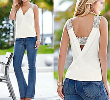 Tank Tops Sleeveless Top Women Casual Summer Vest New Blouse T-Shirt Blouse