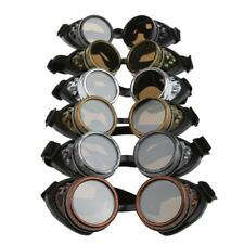 Steampunk Padded Cyber Safety Goggles Glasses Welding Cosplay Fancy Dress