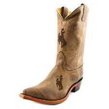 Nocona Wyoming Brown Cowhide Branded Women Square Toe Leather Brown Western Boot