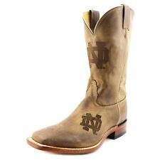 Nocona Notre Dame Branded Men  Square Toe Leather Brown Western Boot