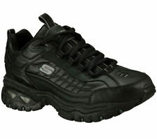Skechers 50081EW BLK Men's ENERGY-AFTER BURN Training WIDE