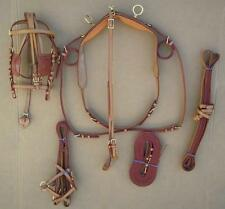 New Tan Color All Leather Mini Driving Harness Set Horse Tack Equine Must See
