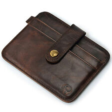 New Mens Genuine Leather Money Clip Slim Wallet ID Credit Card Holder Case