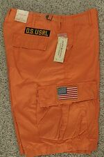 Ralph Lauren Denim & Supply Weathered Orange Cargo Shorts New NWT