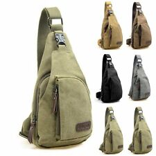 Men's Canvas Travel Bag Military Backpack Hiking Satchel Messenger Shoulder Bag
