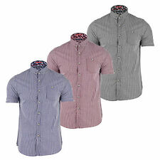 MENS CLEMENT CASUAL COTTON SHORT SLEEVE SUMMER SHIRTS (S-XXL) BY BRAVE SOUL