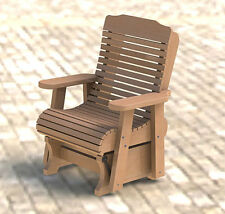 Wooden Glider/Rocker Building Plans 001 - Easy to Build - Paper Plans Only