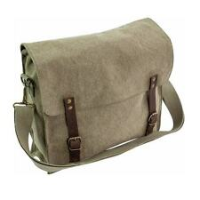 Satchel Canvas Traditional Shoulder / messenger bag Olive or brown new