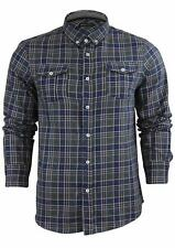 Mens T Shirt Long Sleeved Checked Brave Soul 'Pine' Casual Top Collared